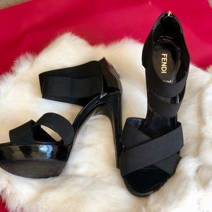 Auth Fendi Strappy Platform Heels / Sandals